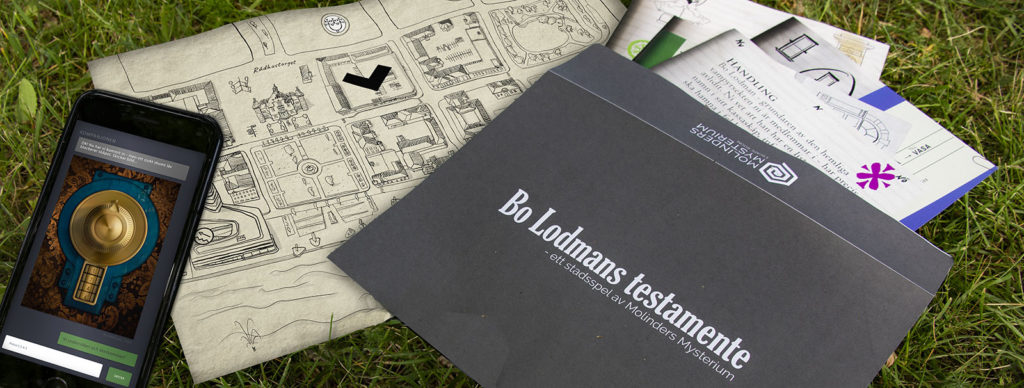 Ett kuvert och en mobiltelefon är det som behövs för att lösa mysteriet med Bo Lodmans testamente
